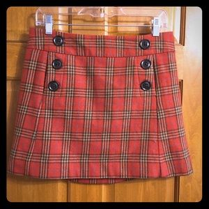 Wool plaid gap skirt size 2